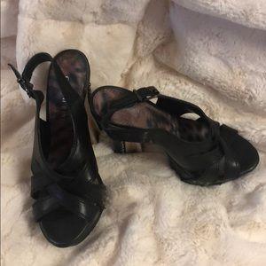 Strappy alluring, very high heel sandal
